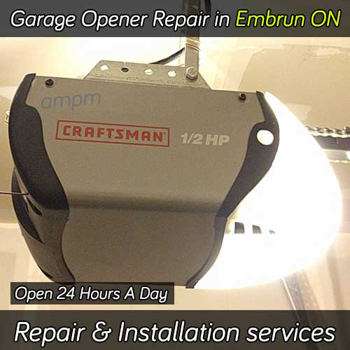 Garage Door Opener Repair Embrun Ontario 24hr Services